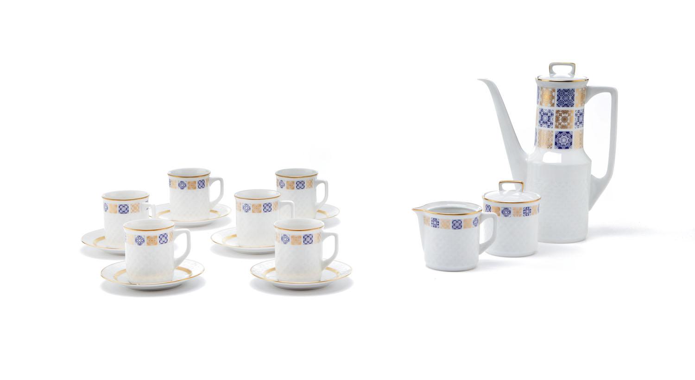 Serwis kawowy dla 6 w orygninalnym pudełku, 2 poł. XX w.