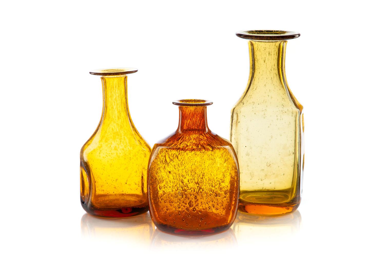 Set of three bottles, lata 70. XX w.