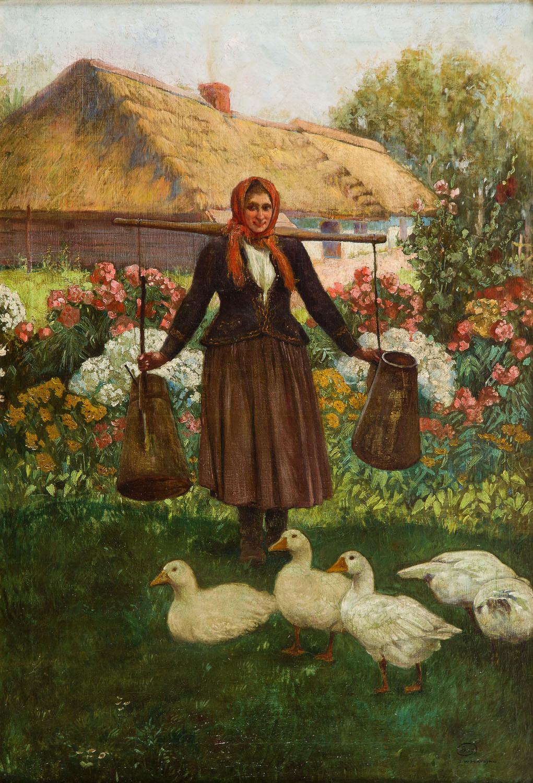 Dziewczyna z kaczkami