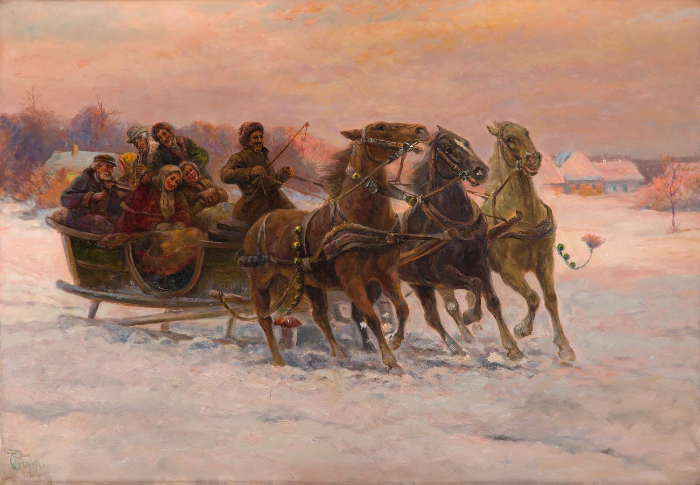 Zimowy przejazd, 1949