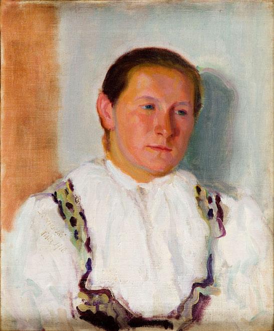 Portret kobiety w stroju regionalnym z Wisły, 1910