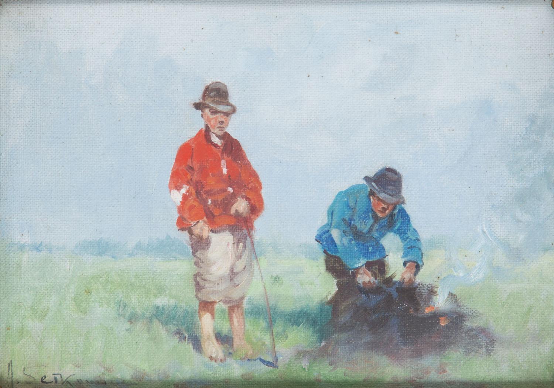 """Przy ognisku"", 1924"