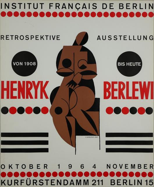 Plakat do wystawy retrospektywnej w Berlinie, 1964 r.