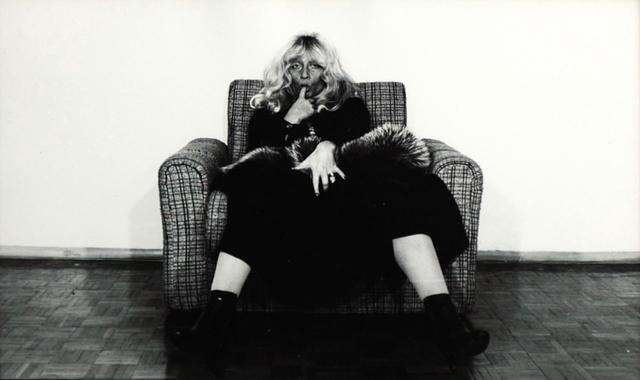 Autoportret z cyklu Sztuczna Fotografia, l. 70 XX w.