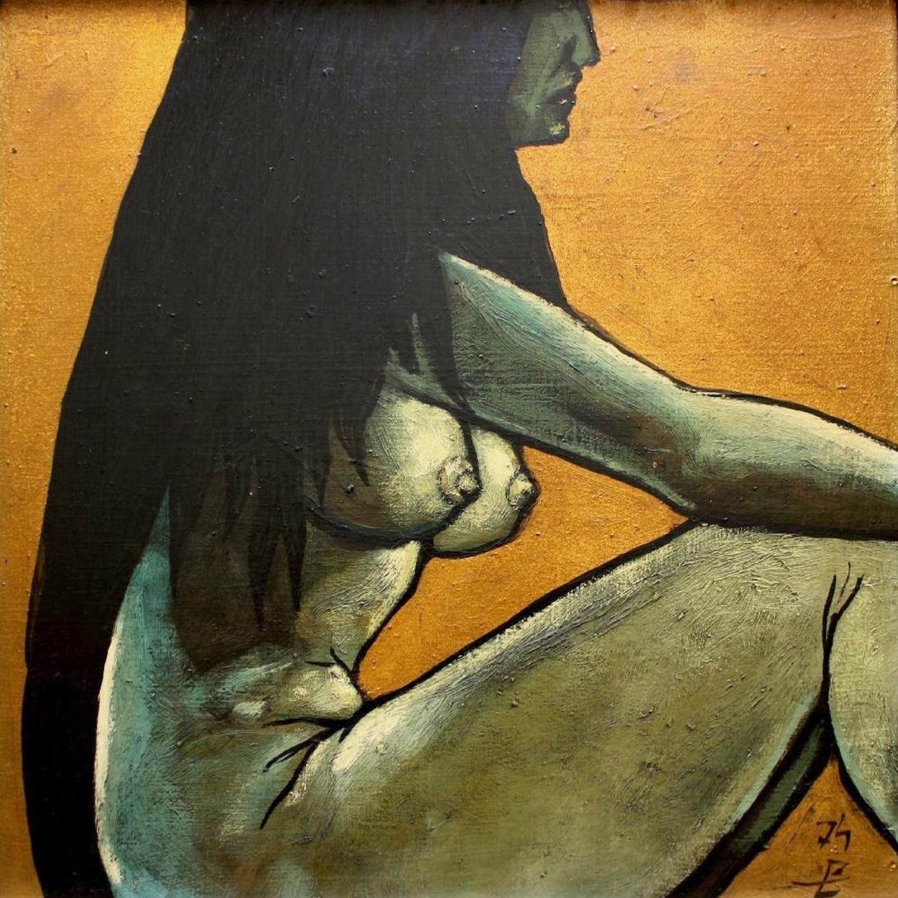 Akt siedzącej dziewczyny, 1974 r.