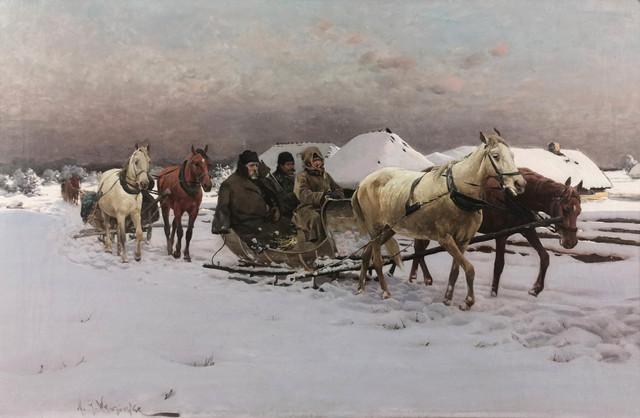 Zima - Powrót z polowania