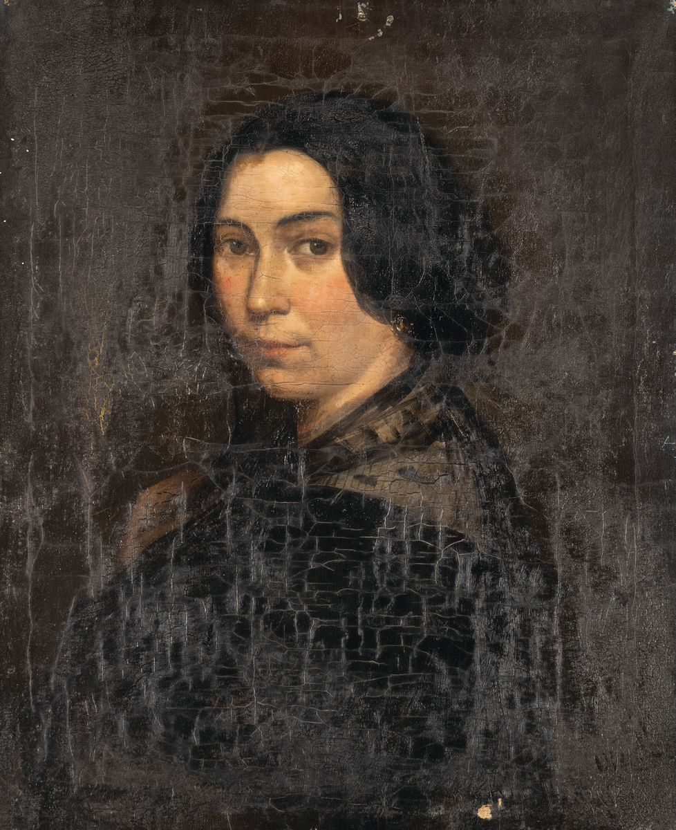 PORTRET DAMY W CZARNEJ SUKNI, 1842