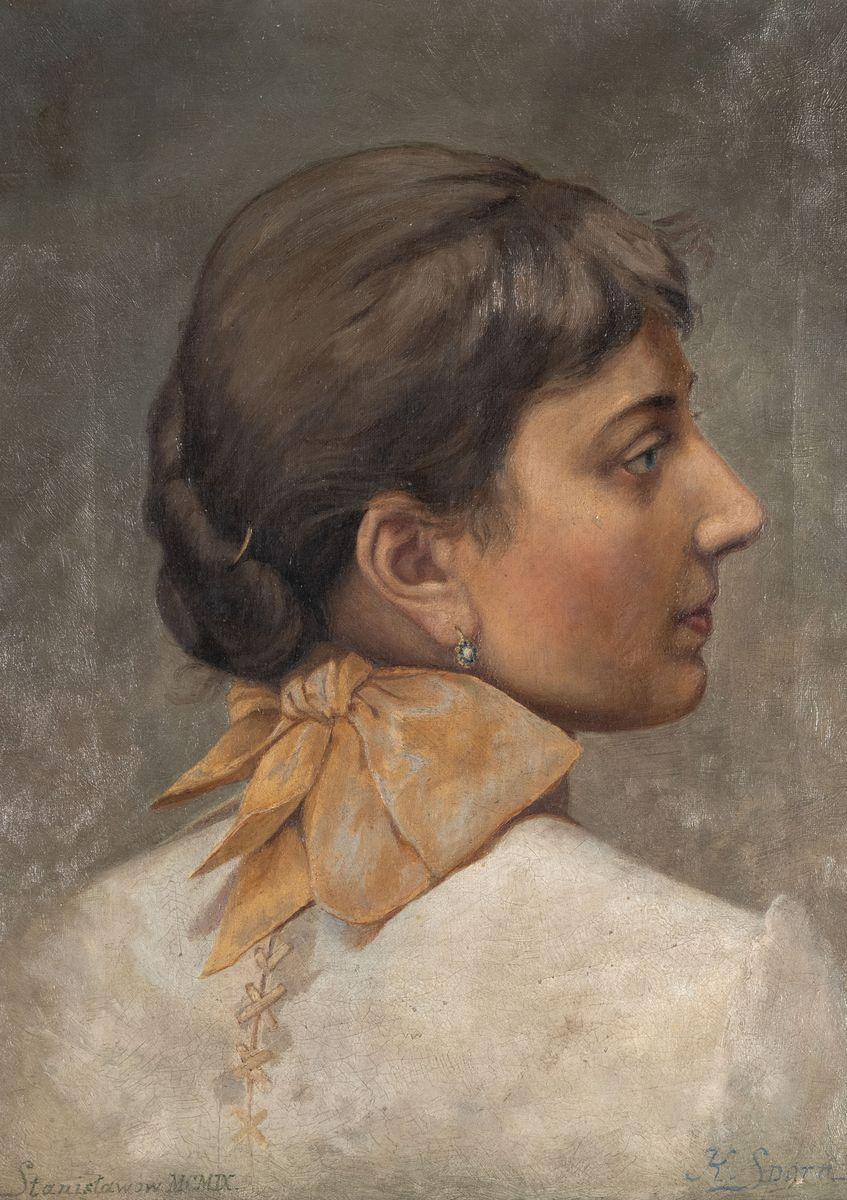 KOBIETA W BIAŁEJ SUKNI, 1909