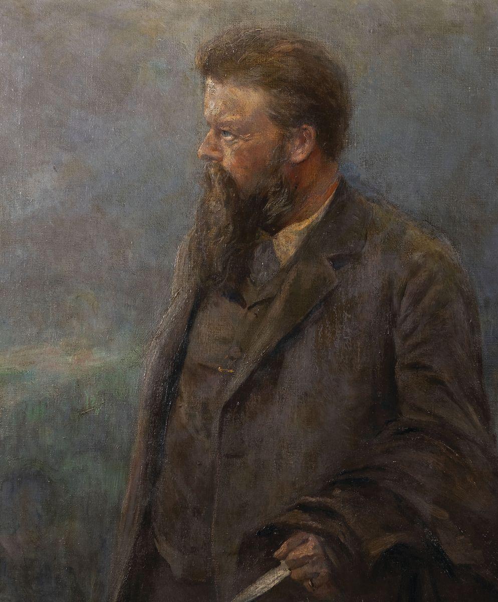 PORTRET BRODATEGO MĘŻCZYZNY, 1914