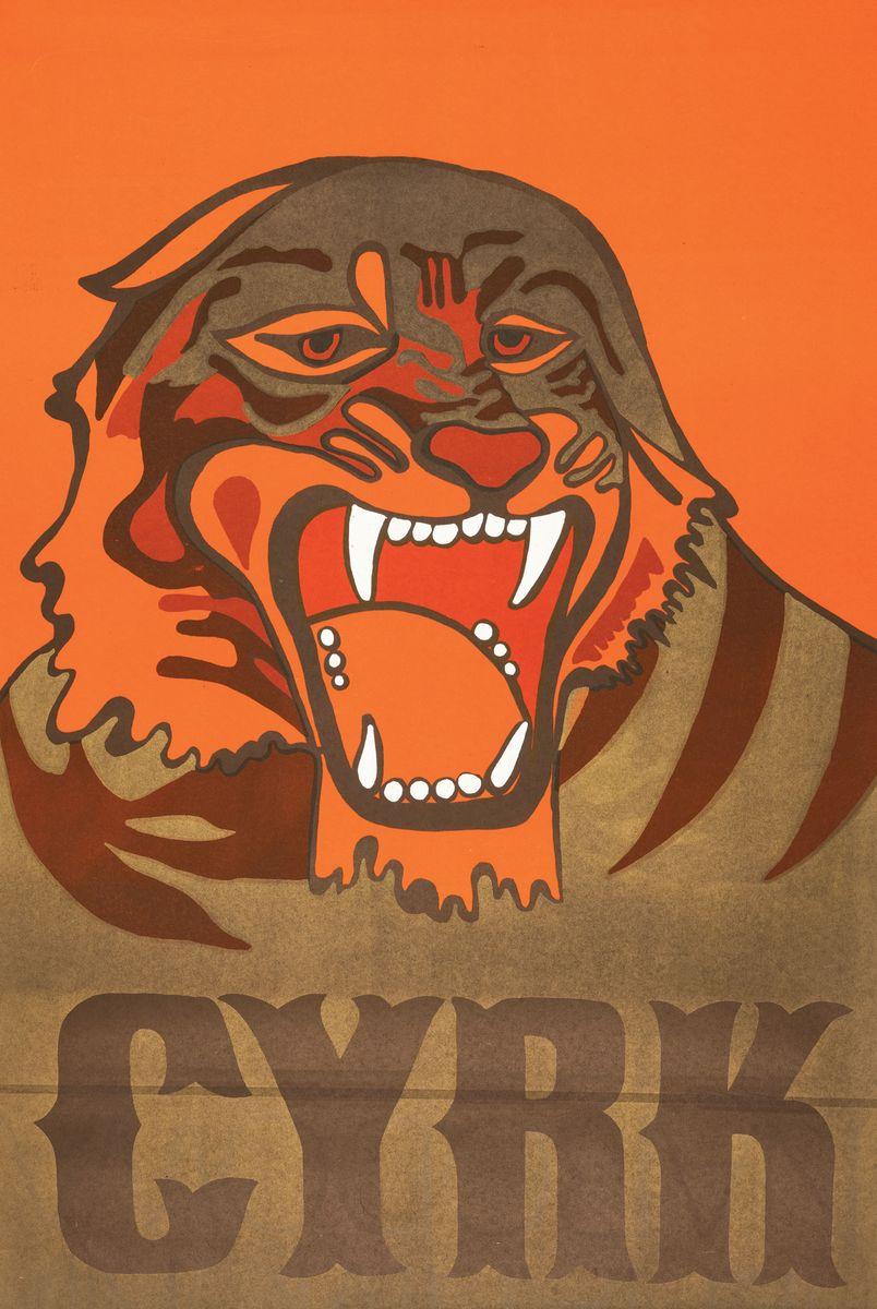 PLAKAT CYRKOWY - TYGRYS, 1974
