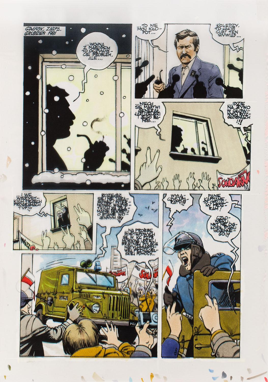 """""""Na białym szumie"""", zestaw plansz 4/6, 2011"""