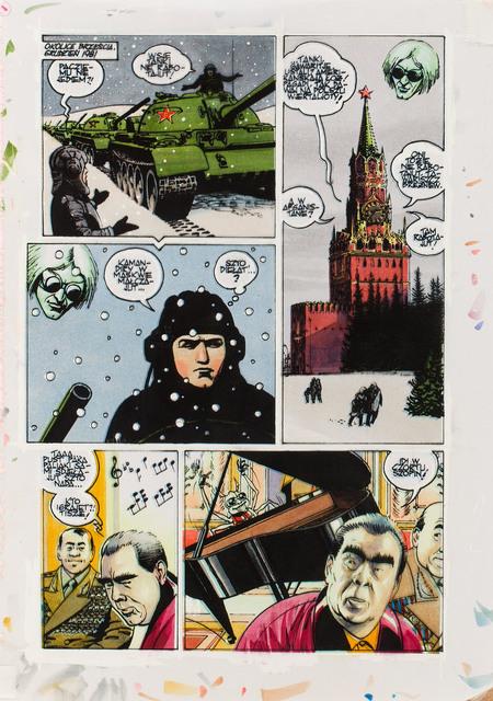 """""""Na białym szumie"""", zestaw plansz 6/6, 2011"""