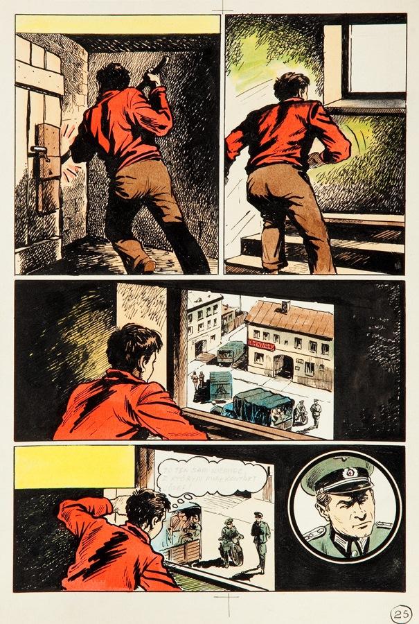 """""""Kapitan Kloss. Wyrok"""", plansza nr 25, około1972"""