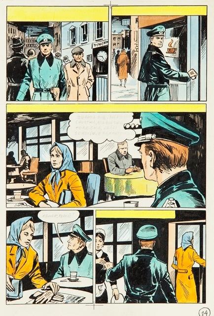"""Kapitan Kloss. Żelazny krzyż"", plansza nr 14, 1973"