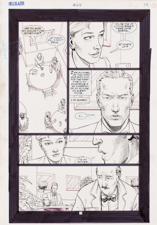 """John Conctantine. Hellblazer"" #64, s.17, 1992"