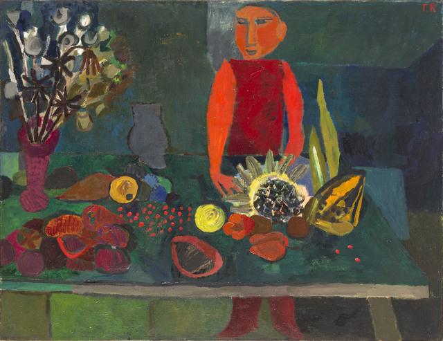 Sprzedawca owoców, 1956