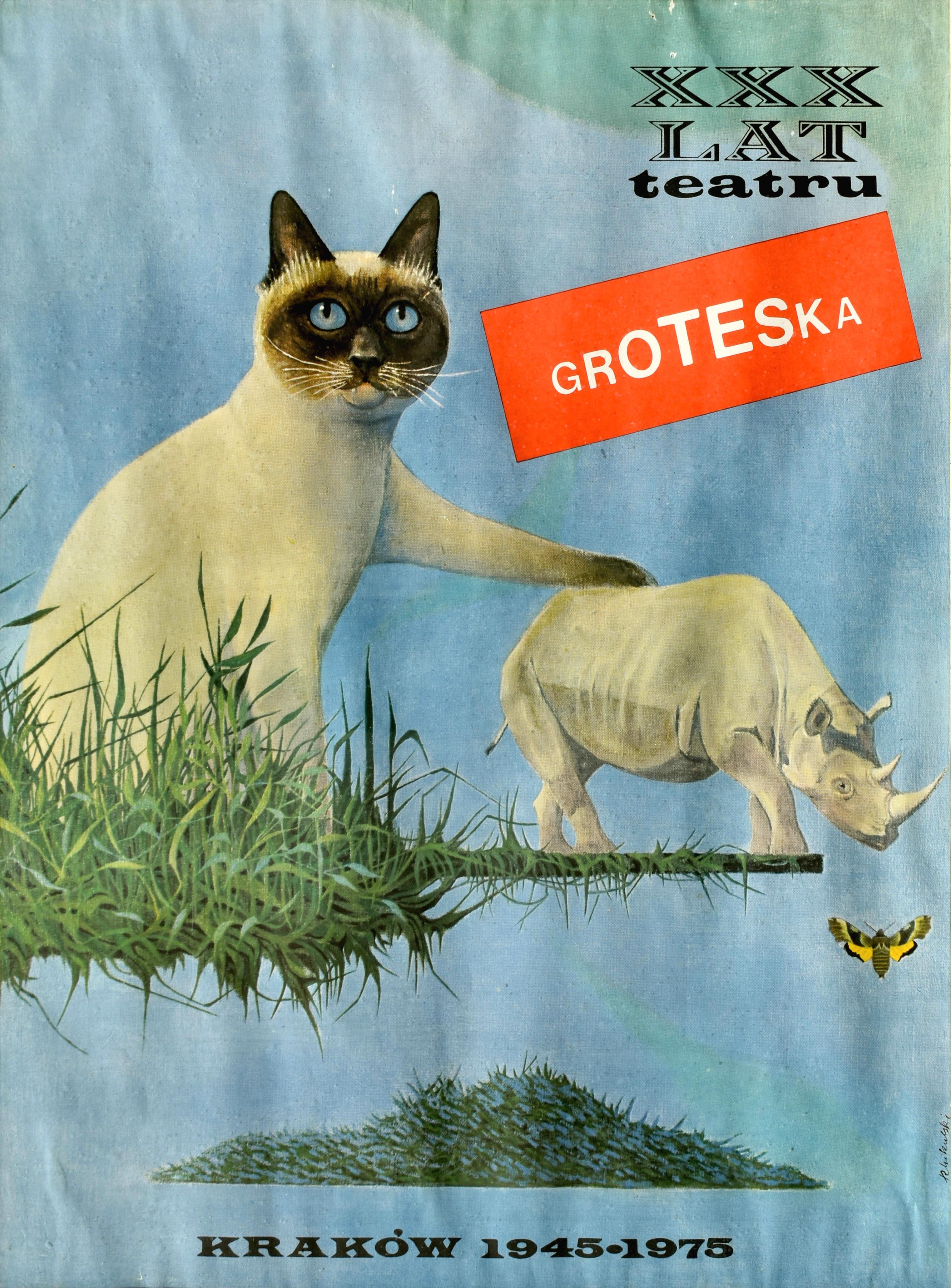 Plakat z kotem (XXX lat Teatru Groteska)