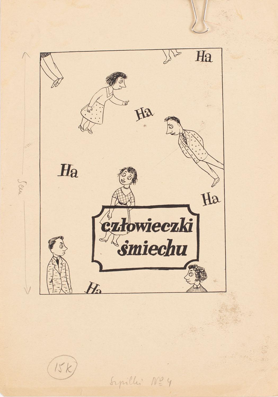 """""""Człowieczki śmiechu"""", projekt ilustracji do magazynu """"Szpilki"""""""