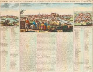 Widok Krakowa, Warszawy i Wilna, około1720