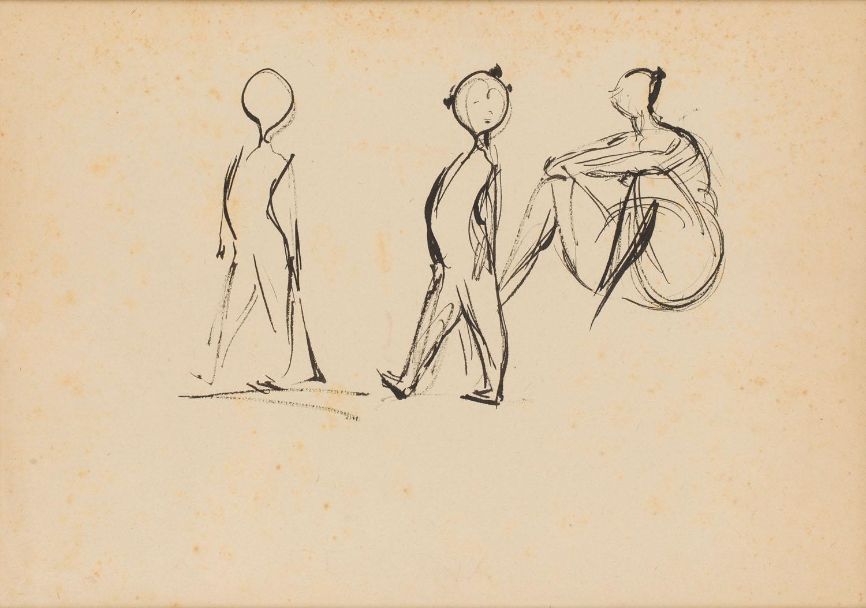 Szkice figurek, lata 50.-60. XX w.