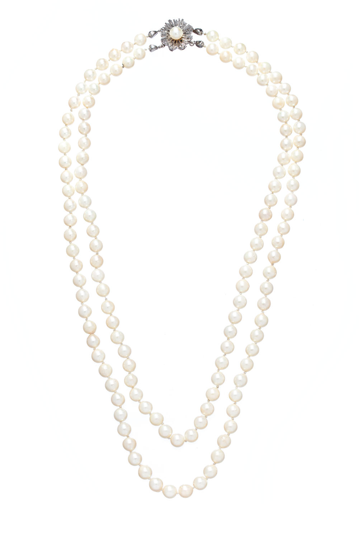 Naszyjnik z perłami, koniec XX w.