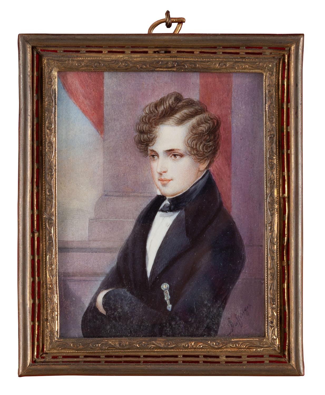 Miniatura z wizerunkiem Napoleona II, XIX w.