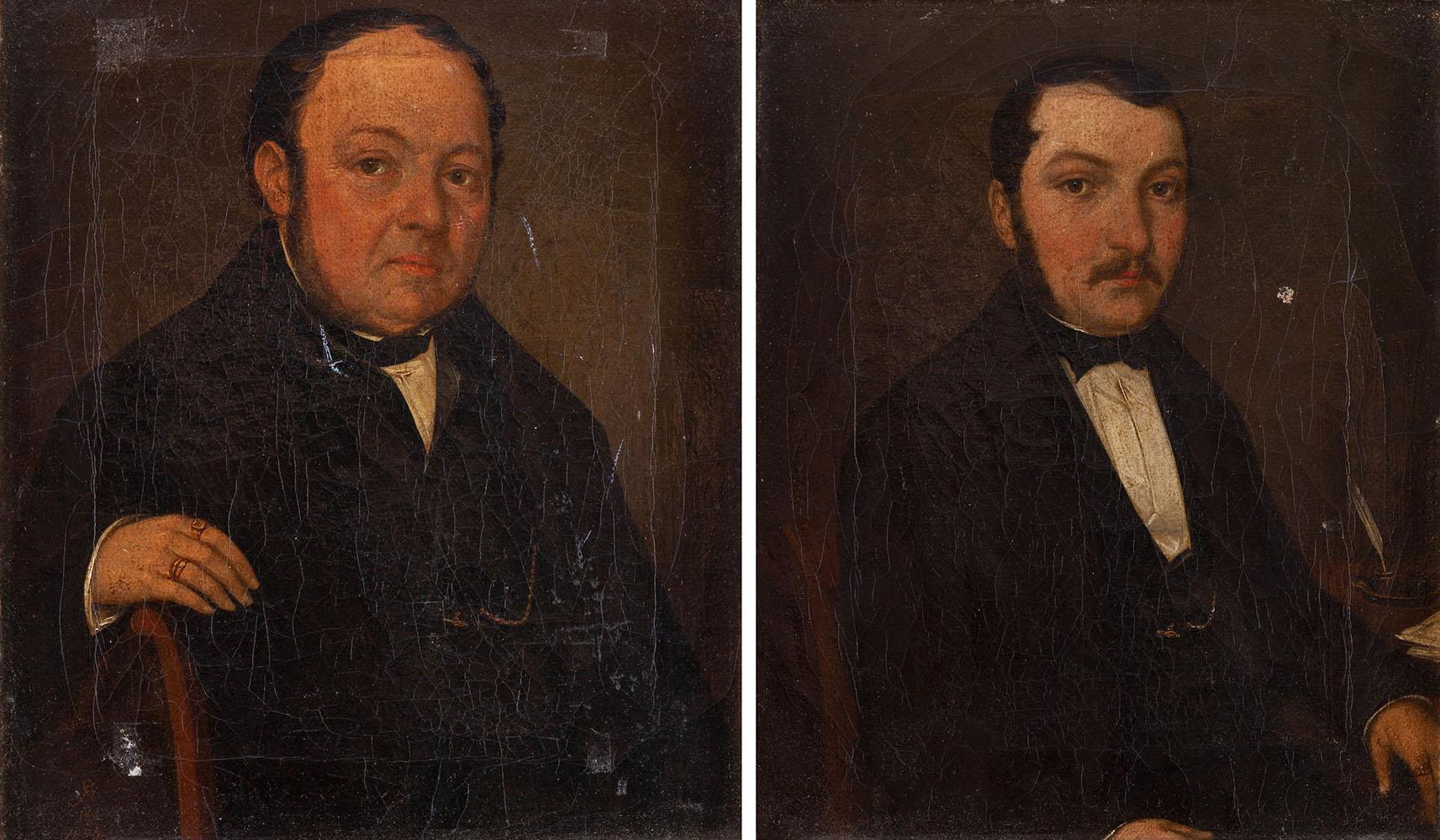 Para portretów męskich