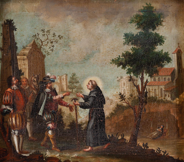 Scena ze świętym Franciszkiem, XVIII w.