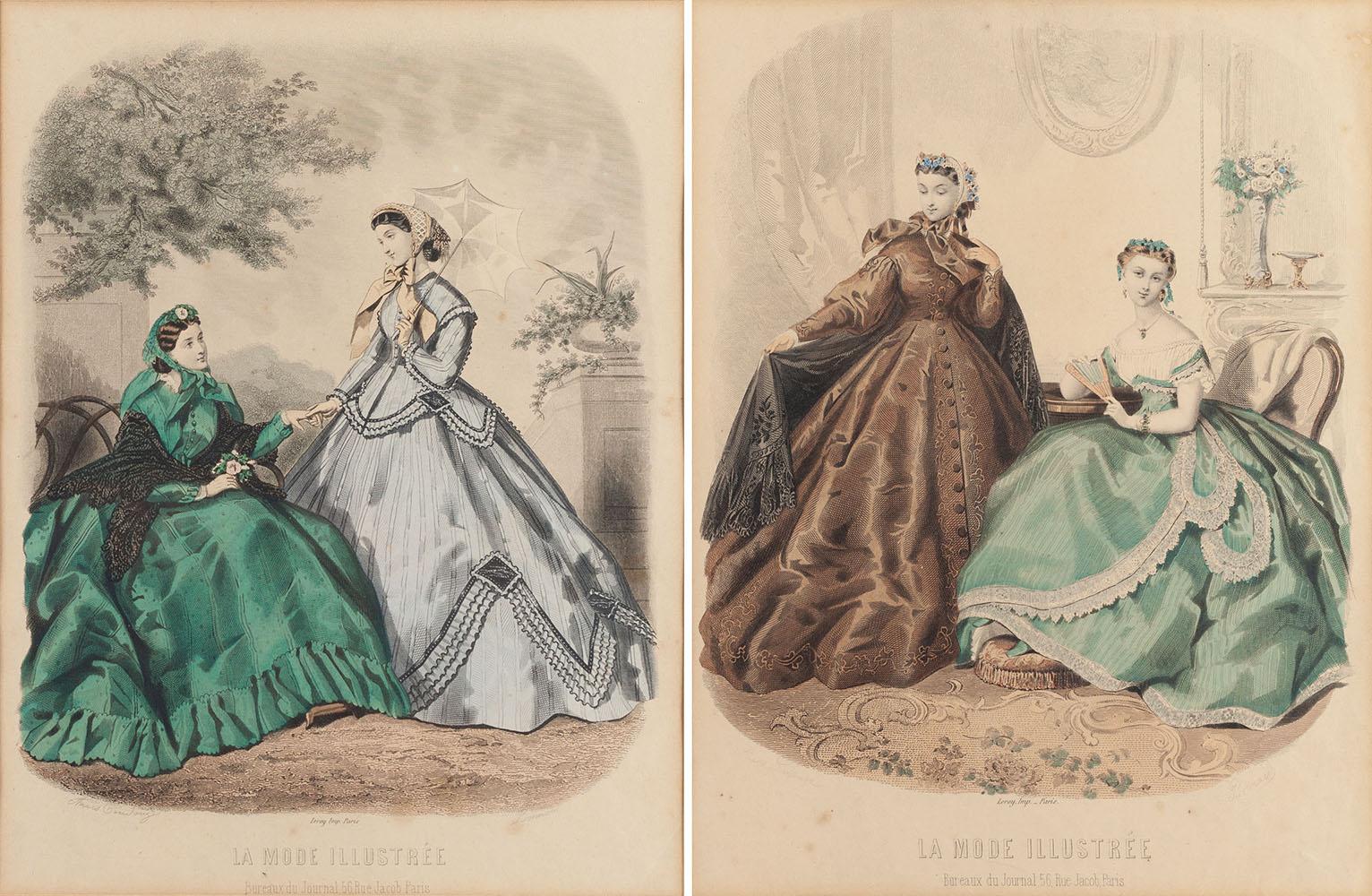 Para grafik - Ilustracje mody paryskiej