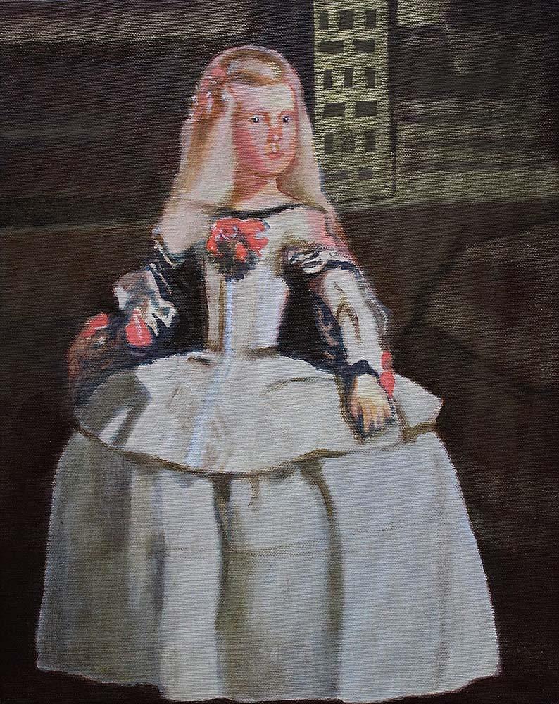 Infantka (kopia obrazu D. Velazqueza), 2009