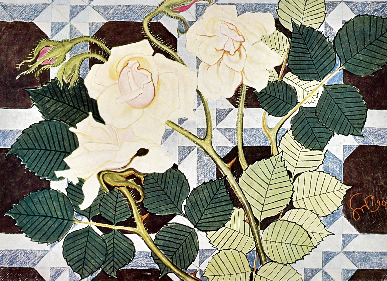 Róże, projekt do polichromji, 1903