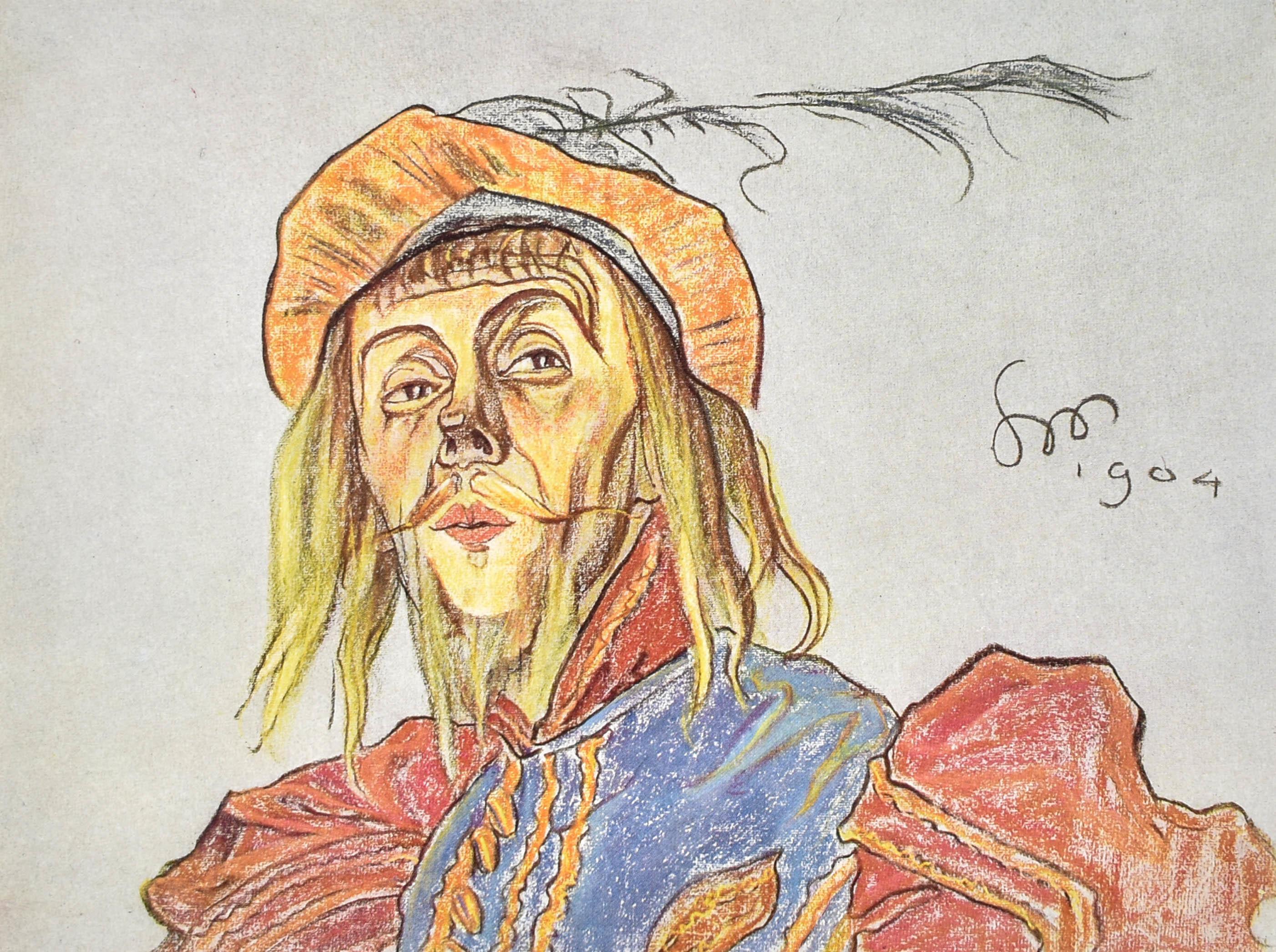 """L. Solski jako """"Chudogęba"""" w """"Wieczorze trzech króli"""" Szekspira, 1904"""