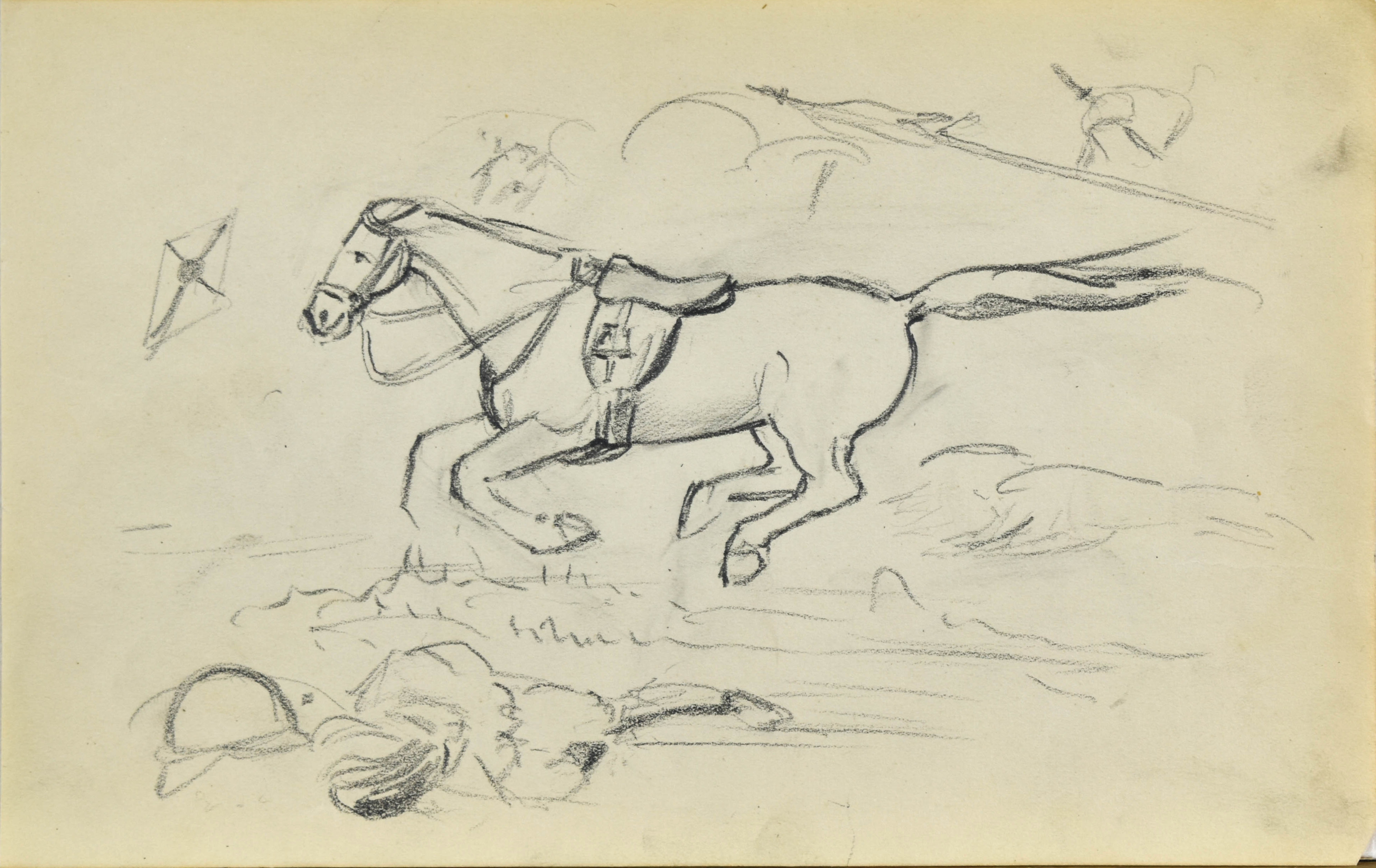 Szkic pędzącego konia