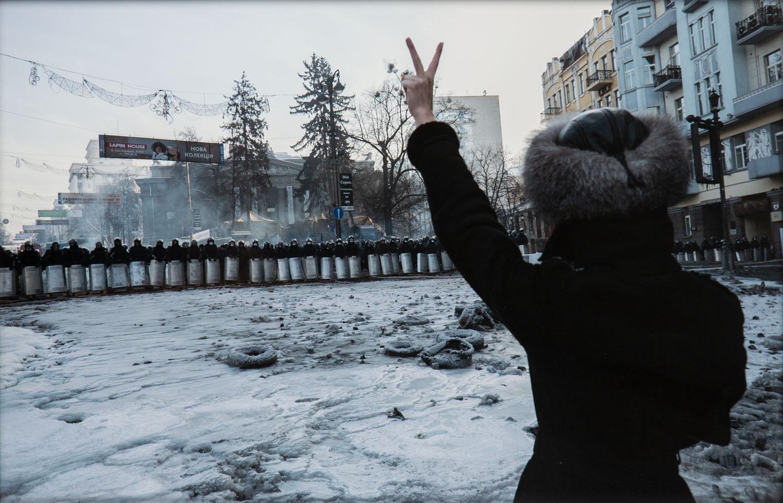 "Bez tytułu, z serii ""Maidan Revolution"", 2014/2021"