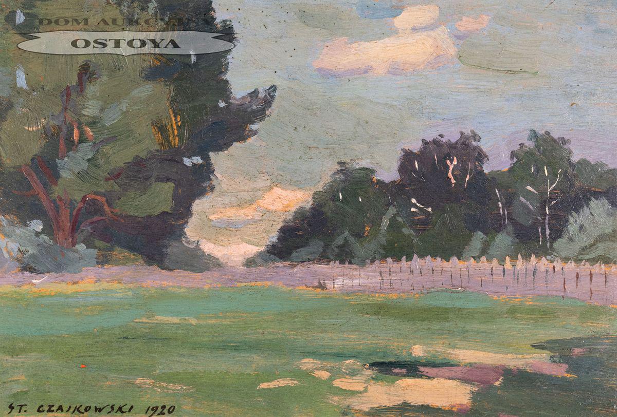 PEJZAŻ Z PŁOTEM, 1920