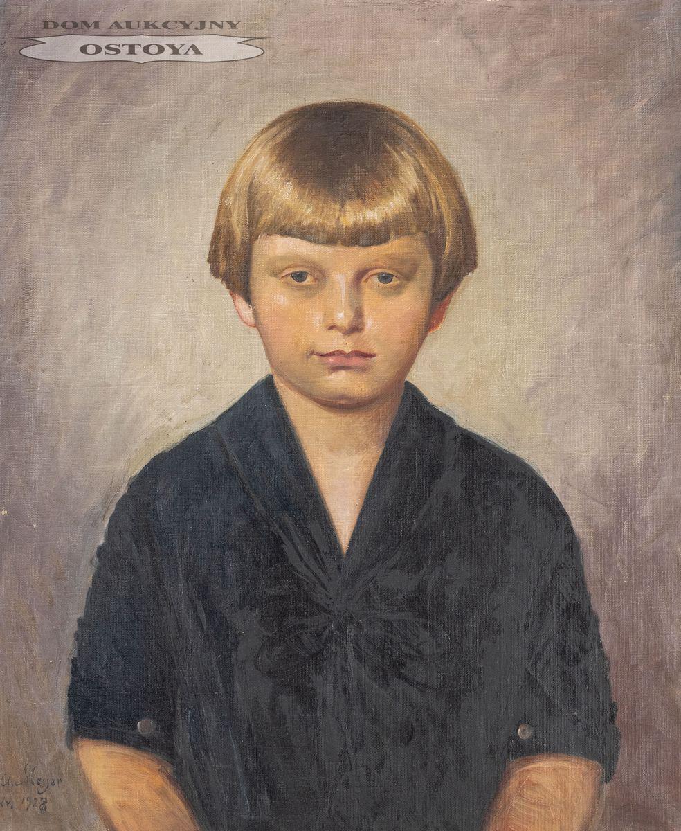 PORTRET JASNOWŁOSEGO DZIECKA, 1928