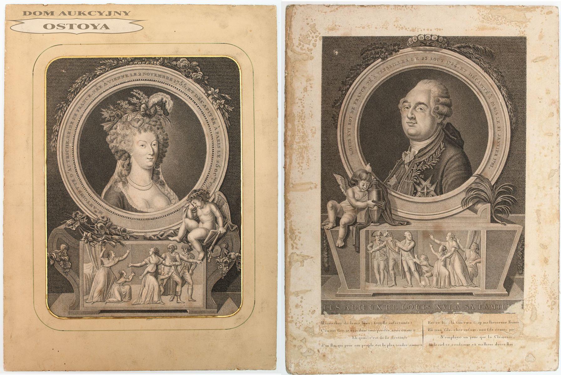 LUDWIK XVI I MARIA ANTONINA, po 1795