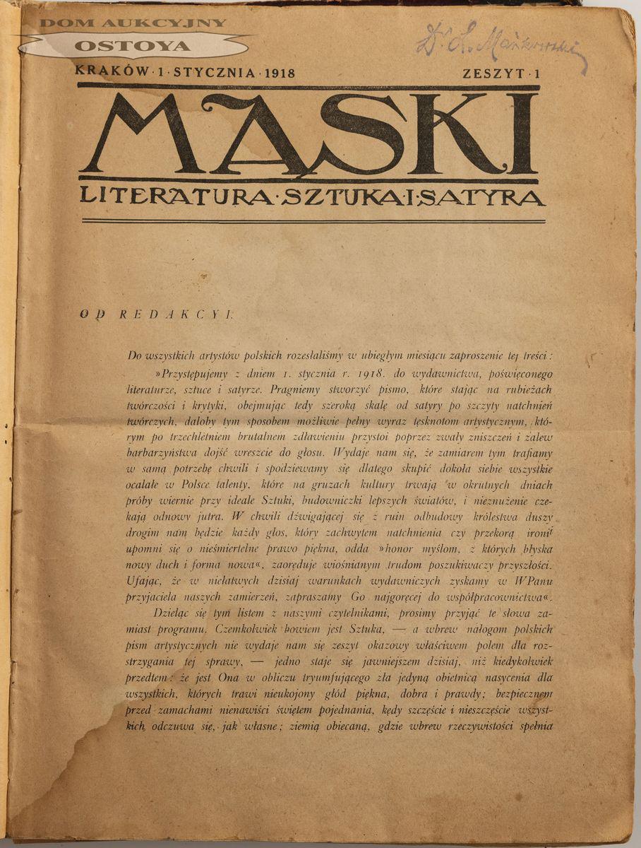 MASKI, rok 1918