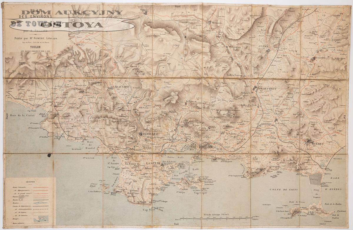 MAPA OKOLIC TULONU, A. Paillard, XIX/XX w.