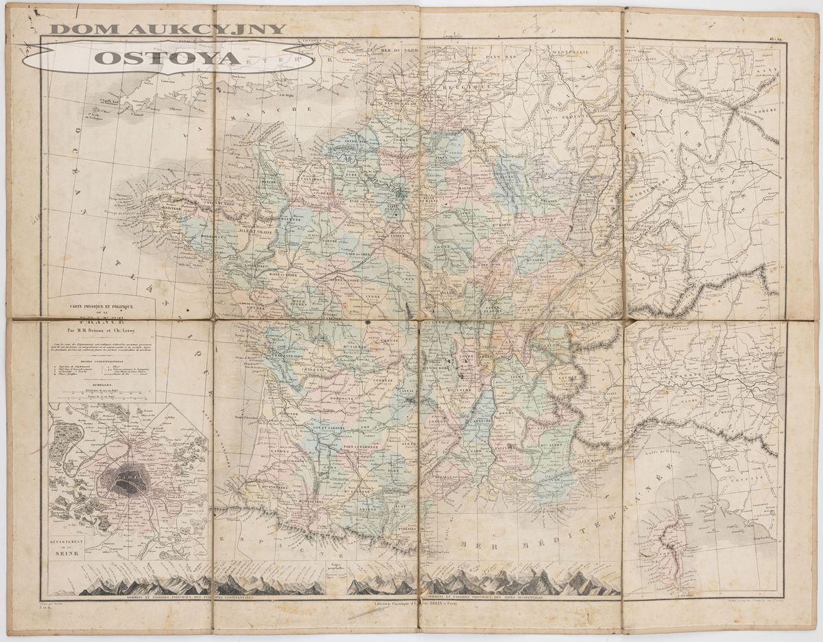 MAPA FRANCJI, po 1871