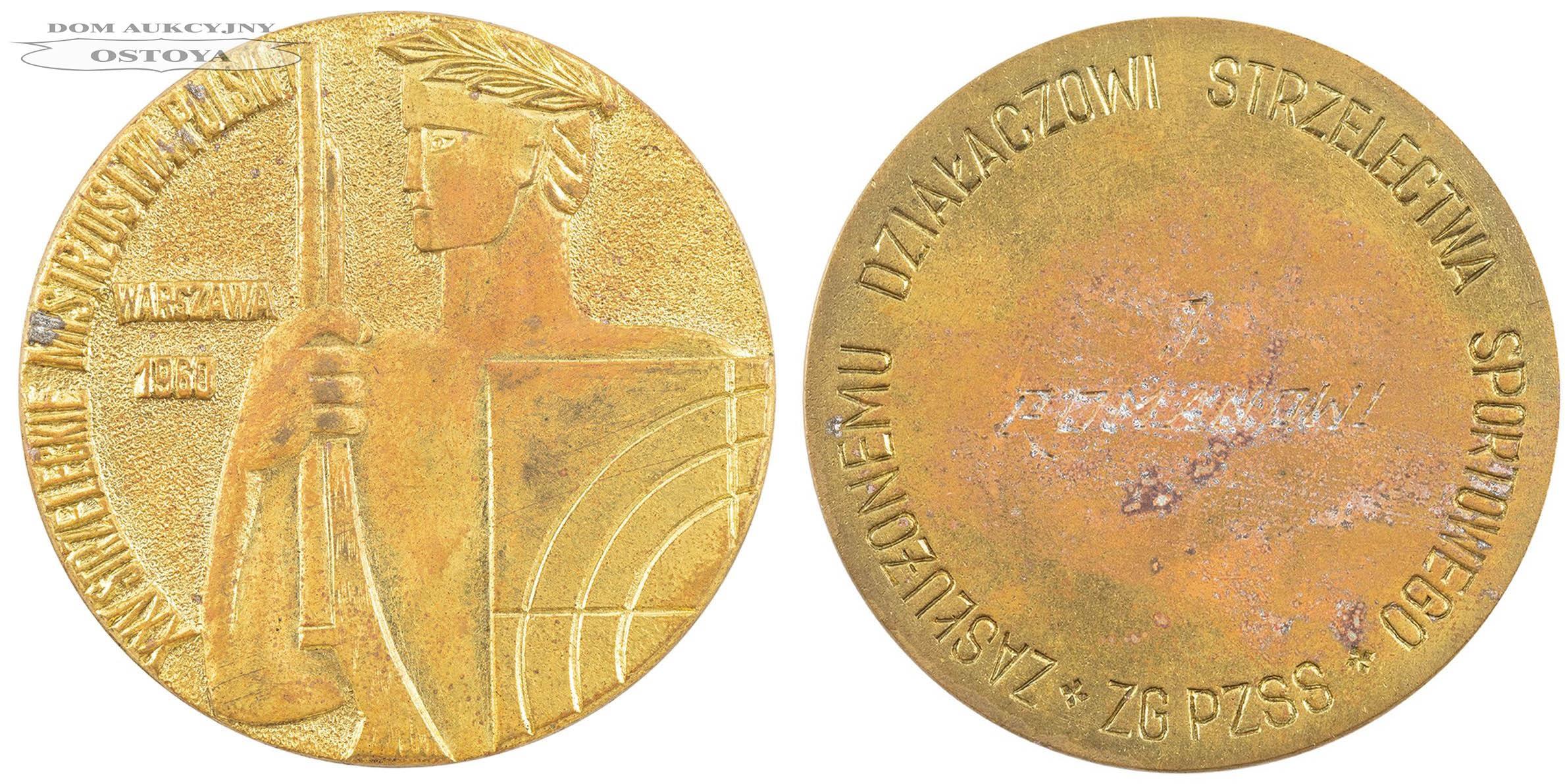 MEDAL JERZEGO ROMANA, XXV Strzeleckie Mistrzostwa Polski, Warszawa, 1960