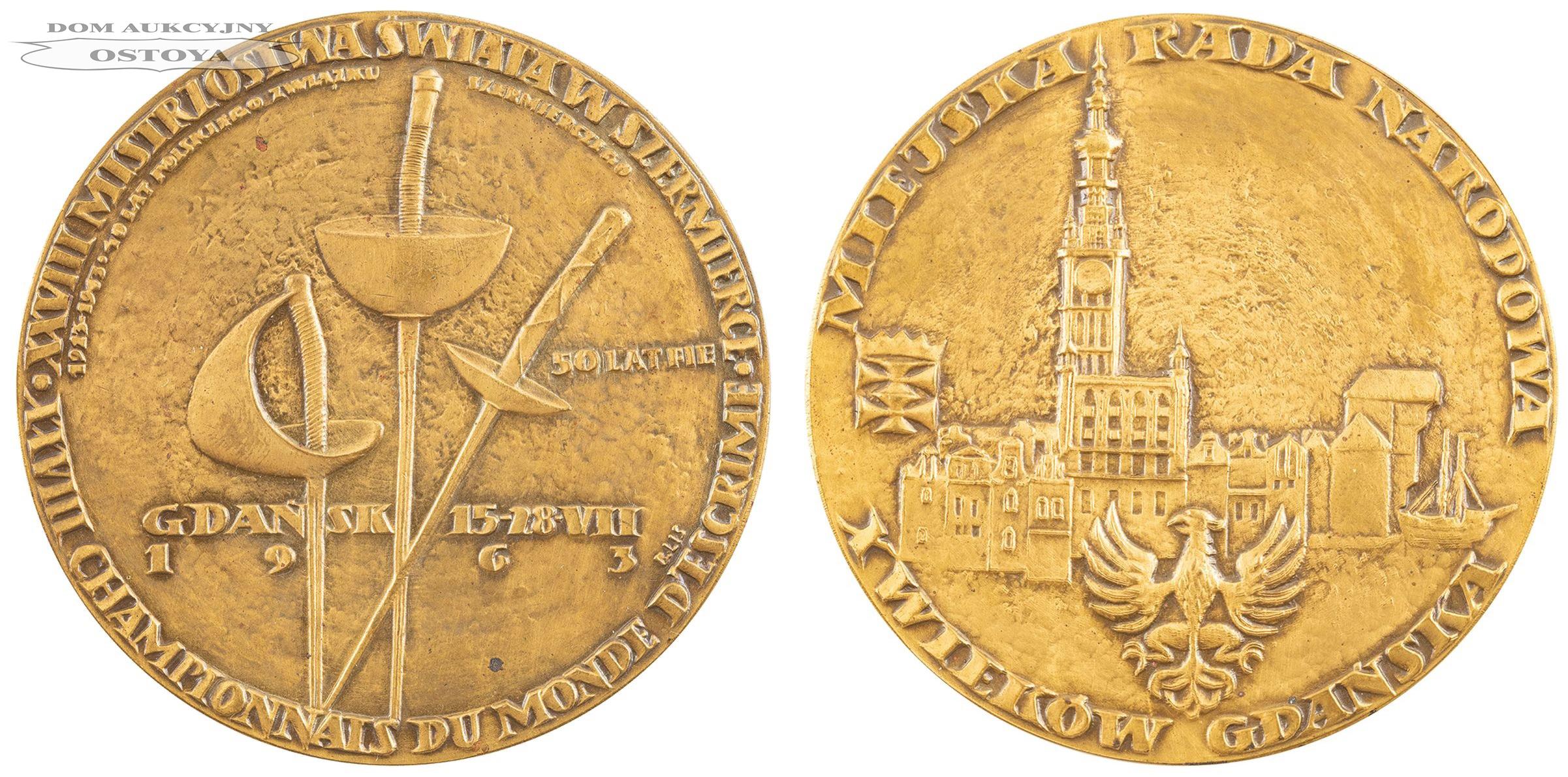 MEDAL, XXVIII MISTRZOSTWA ŚWIATA W SZERMIERCE, Gdańsk, 1963