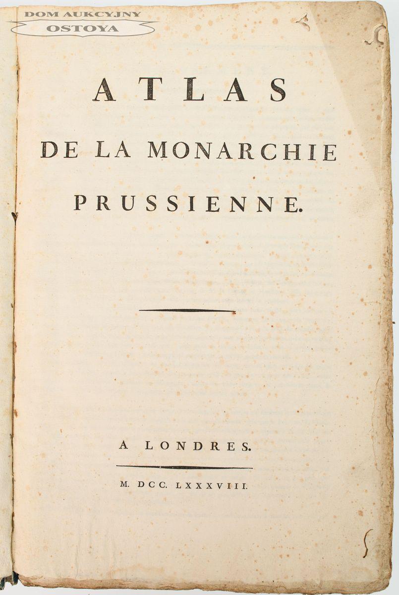 ATLAS DE LA MONARCHIE PRUSSIENNE