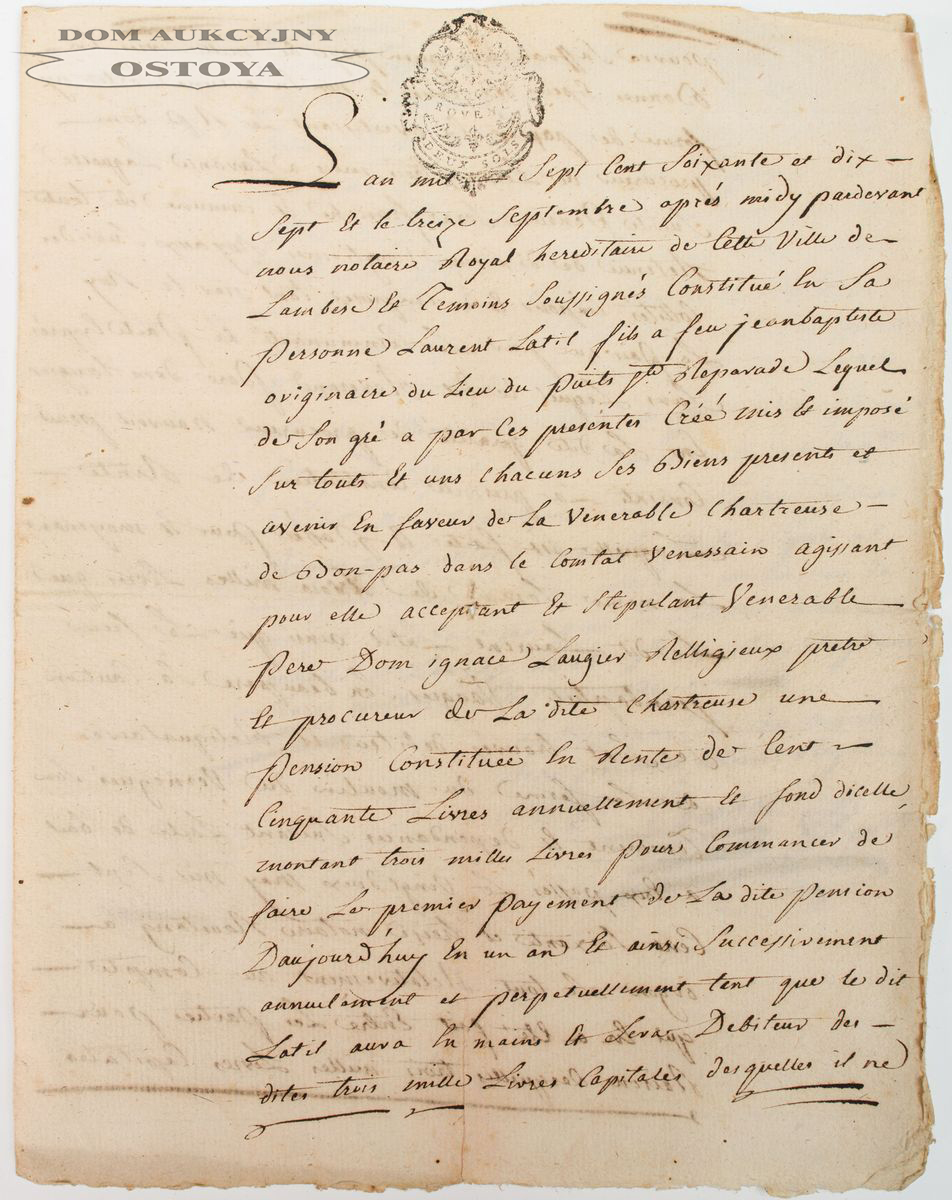 DOKUMENT, 13 09.1777