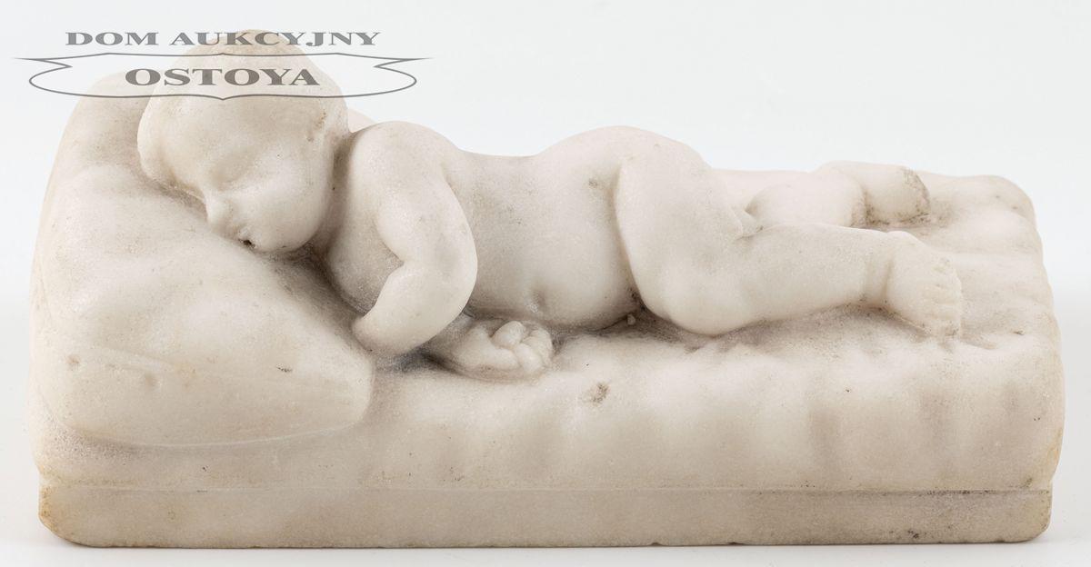 ŚPIĄCE PUTTO, Włochy, XIX w.