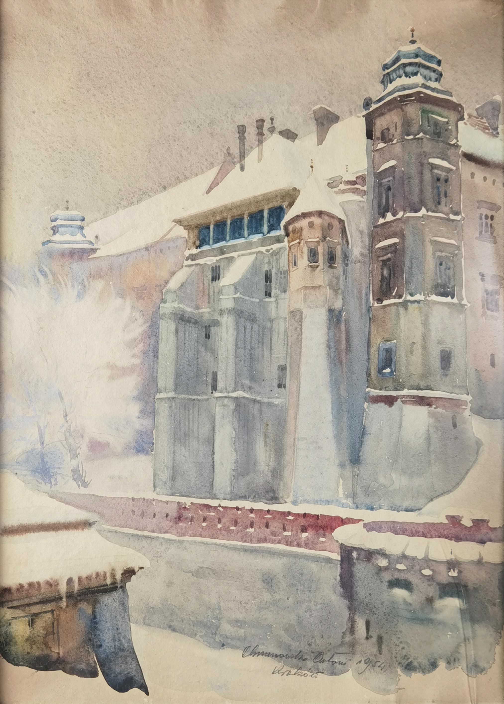 Widok na Wawel i Kurzą Stopkę, 1954