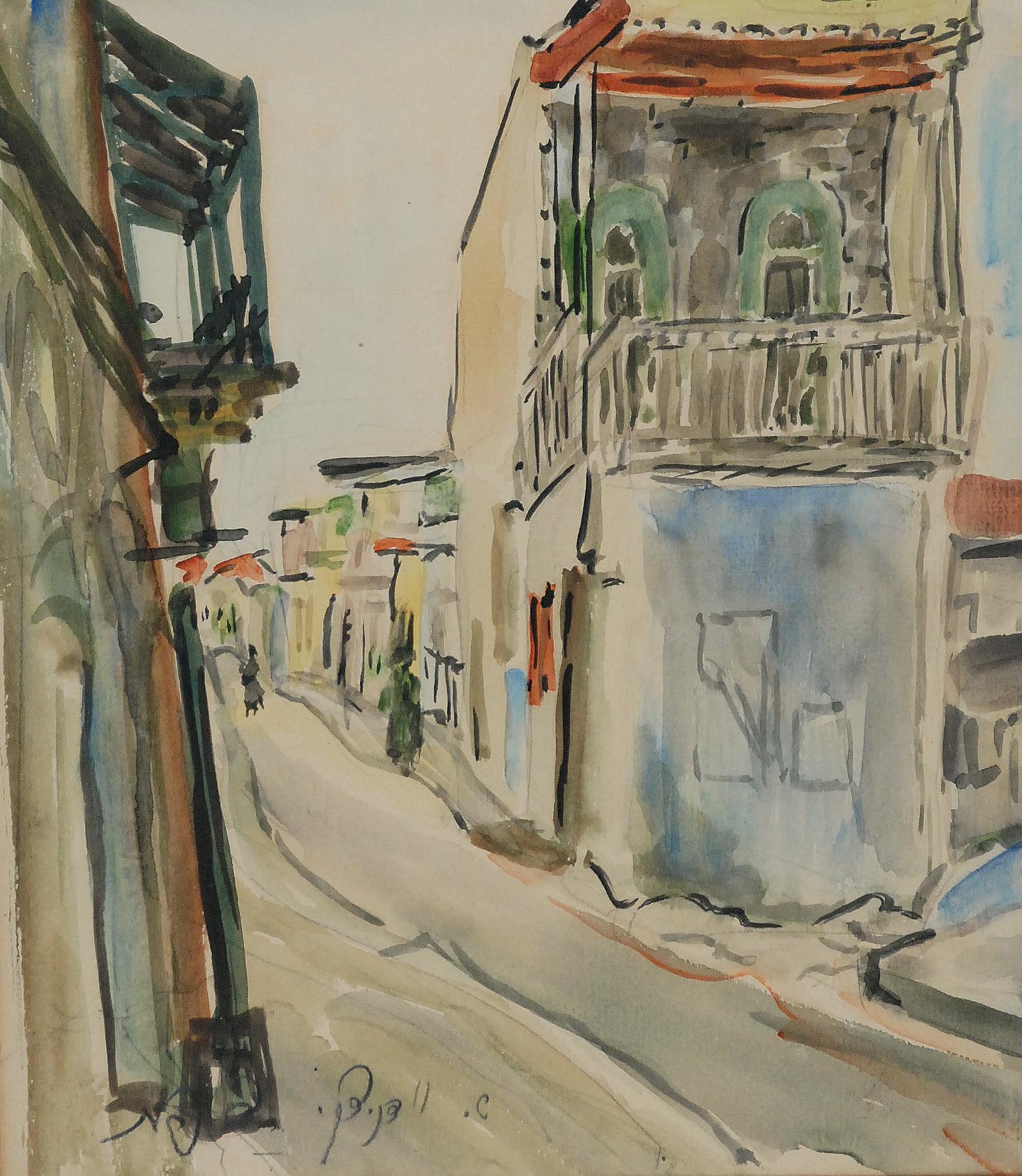 Pejzaż miejski (Safed), lata 40. XX w.