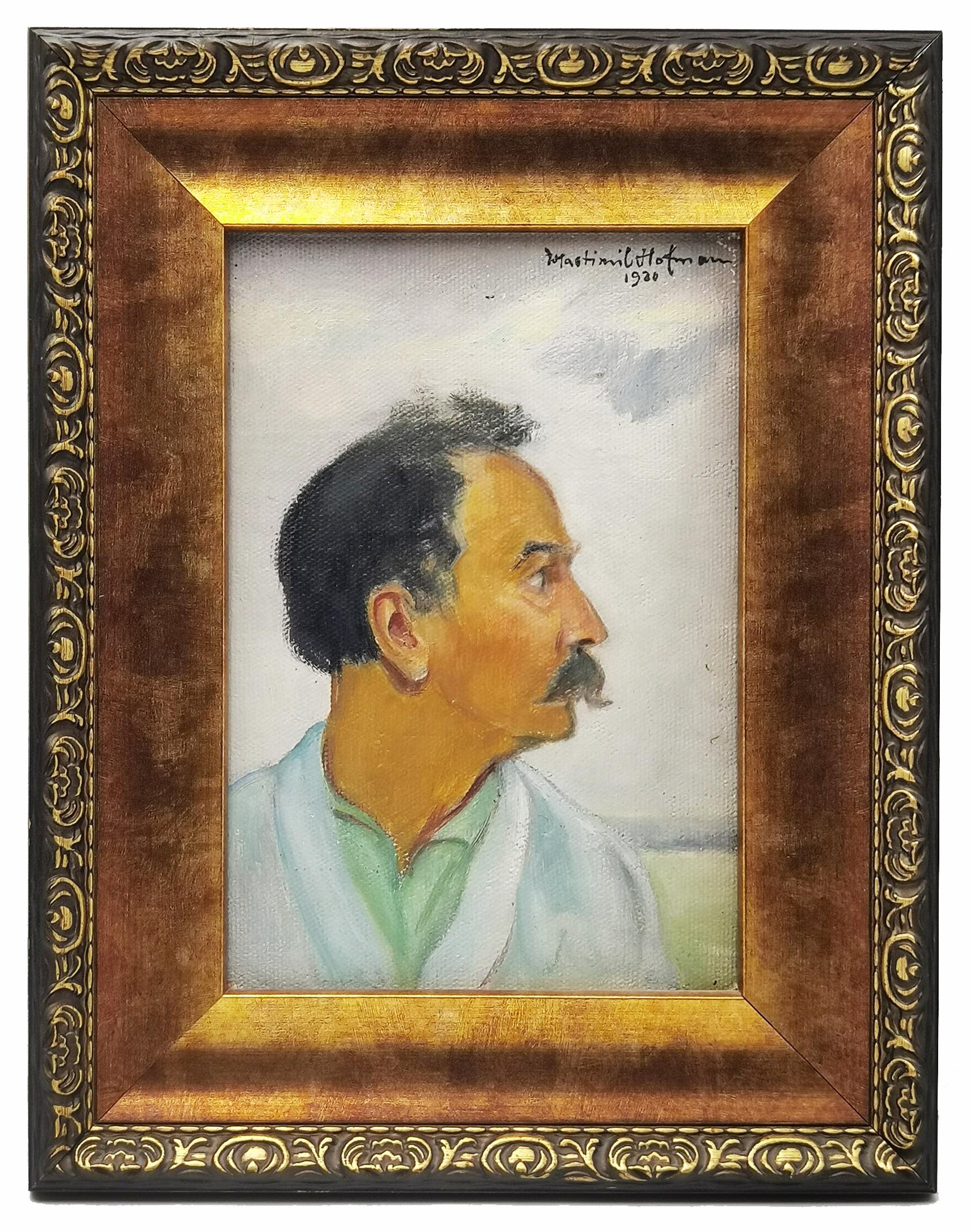 Autoportret z profilu, 1920