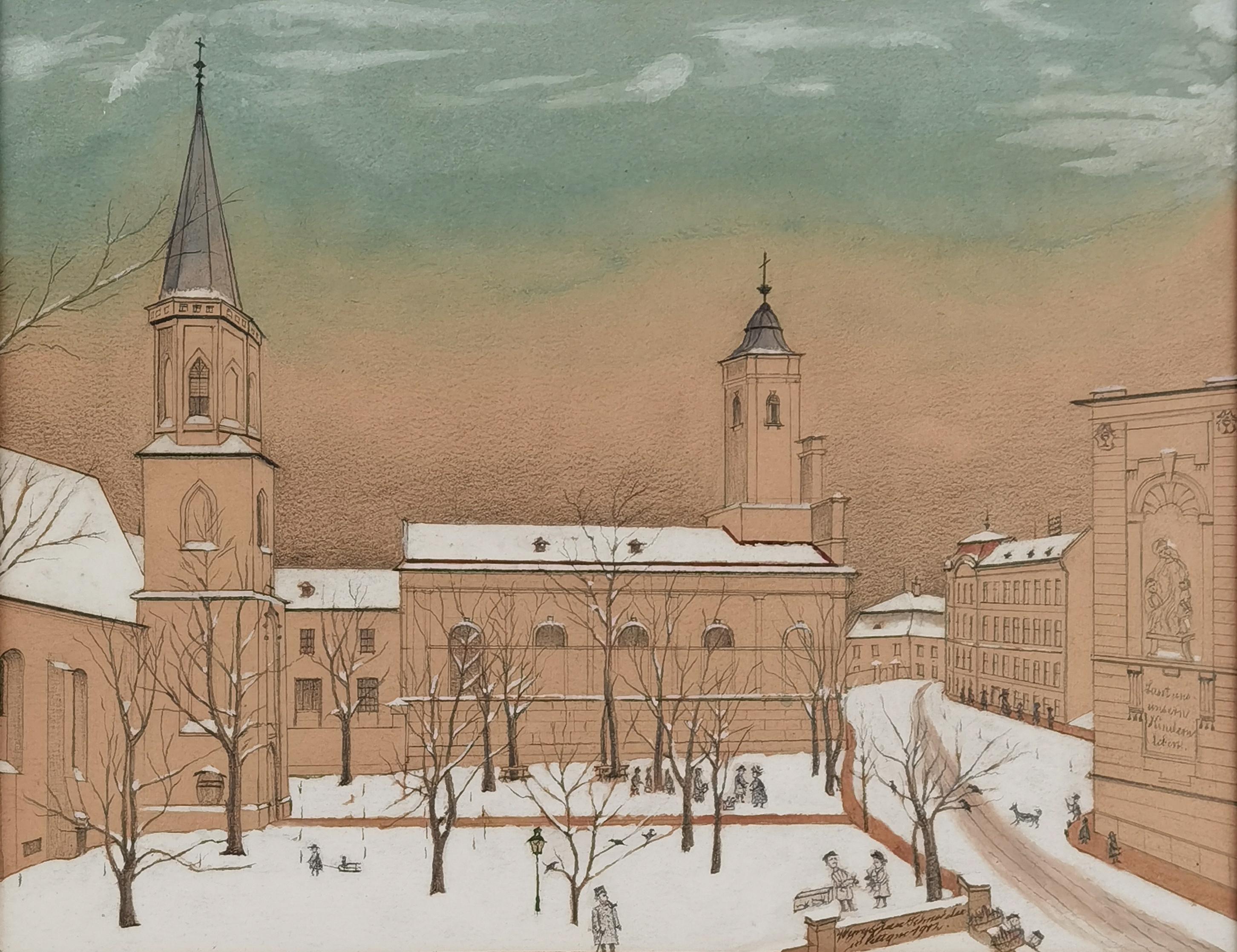 Cieszyn zimą, 1912