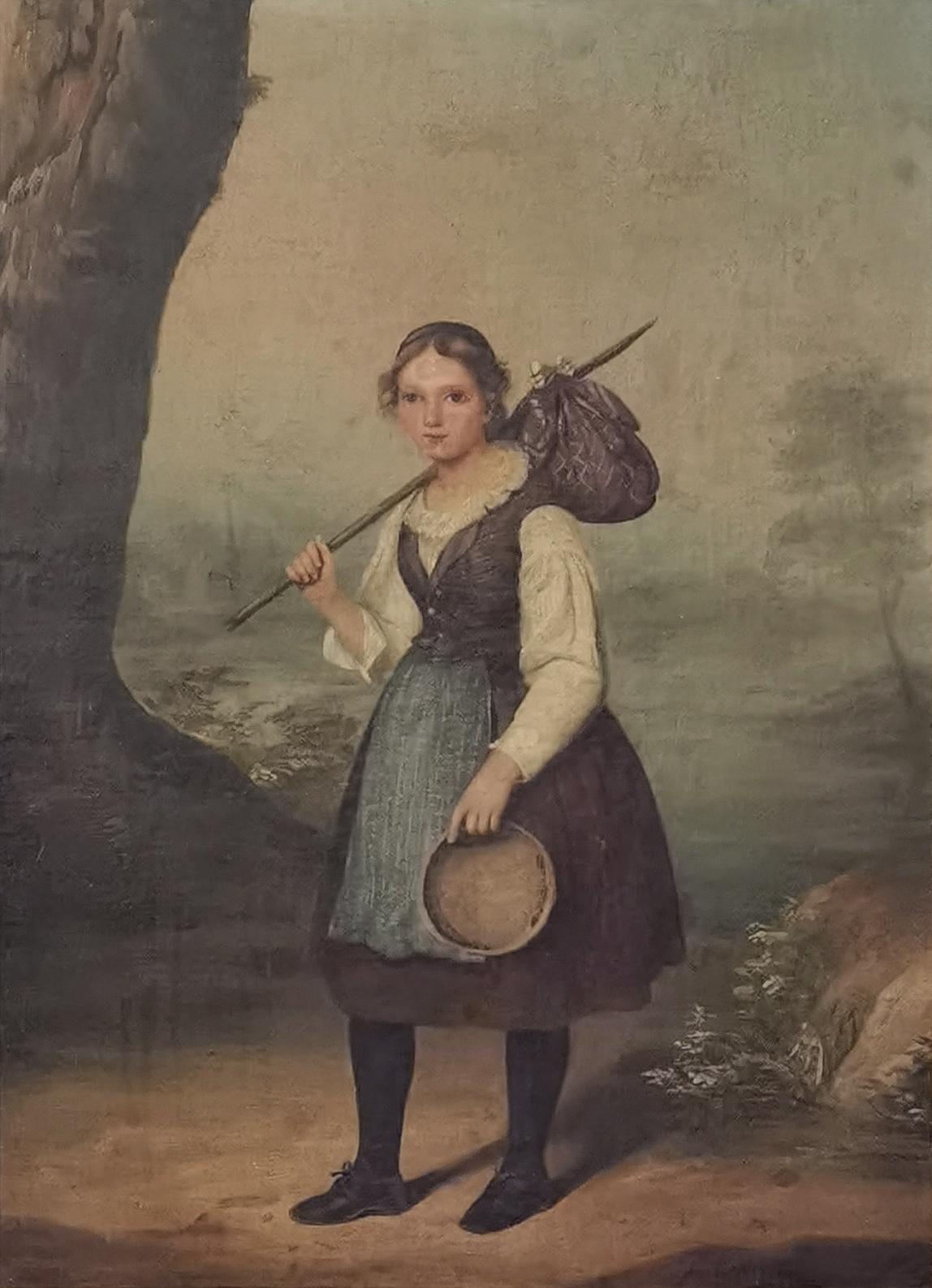 Dziewczyna z węzełkiem, 1839
